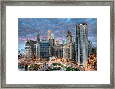 Chicago Hdr Framed Print by Jeff Lewis
