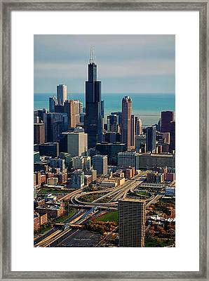 Chicago Highways 05 Framed Print by Thomas Woolworth