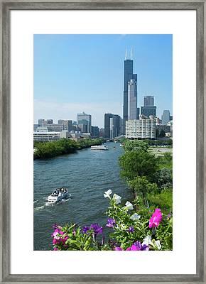 Chicago, Illinois Skyline Framed Print by Bill Bachmann