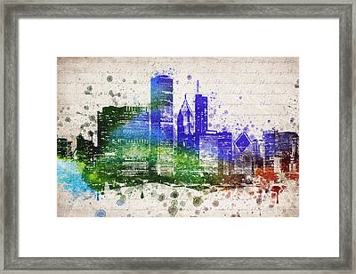 Chicago In Color Framed Print by Aged Pixel