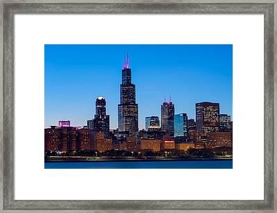 Chicago Lakefront Blues Framed Print by Steve Gadomski