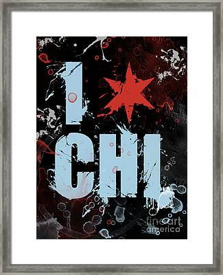 Chicago Love Framed Print by Mike Maher