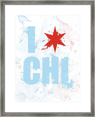 Chicago Love Too Framed Print by Mike Maher