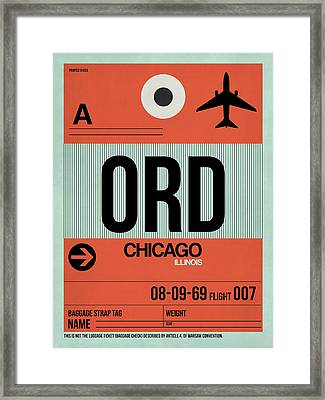 Chicago Luggage Poster 2 Framed Print by Naxart Studio