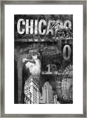 Chicago Memories In Black And White Framed Print by Joseph Catanzaro