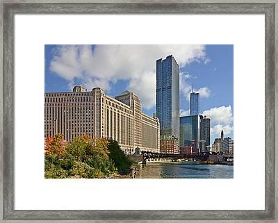 Chicago Merchandise Mart Framed Print by Christine Till