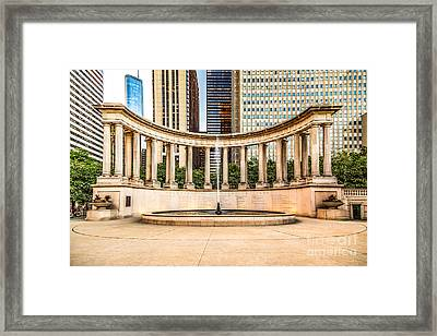 Chicago Millennium Monument In Wrigley Square Framed Print by Paul Velgos