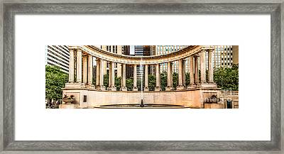 Chicago Millennium Monument Wrigley Square Panorama Photo Framed Print by Paul Velgos