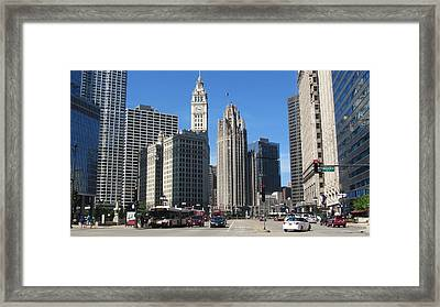 Chicago Miracle Mile 1 Framed Print by Anita Burgermeister