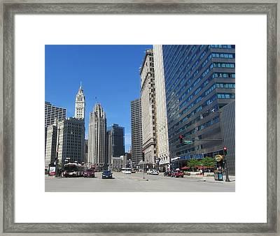 Chicago Miracle Mile 2 Framed Print by Anita Burgermeister