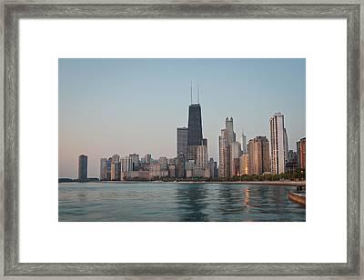 Chicago Morning Framed Print by Steve Gadomski
