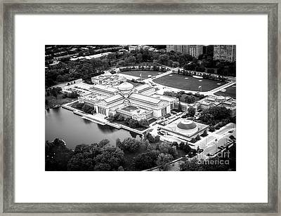 Chicago Museum Of Science And Industry Aerial View Framed Print by Paul Velgos