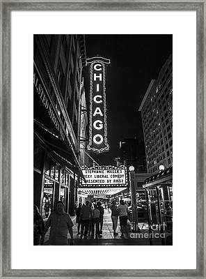Chicago Nights Framed Print by Terry Rowe