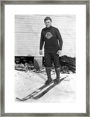 Chicago Norge Ski Club Member Framed Print by Underwood Archives