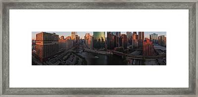 Chicago On The River Framed Print by Steve Gadomski