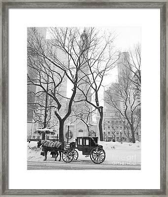 Chicago Photography - Black And White Framed Print by Horsch Gallery