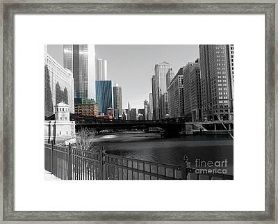 Chicago River At Franklin Street Framed Print by David Bearden