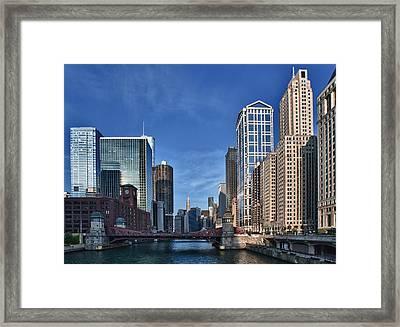 Chicago River Framed Print by Sebastian Musial