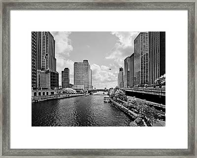 Chicago River - The River That Flows Backwards Framed Print by Christine Till