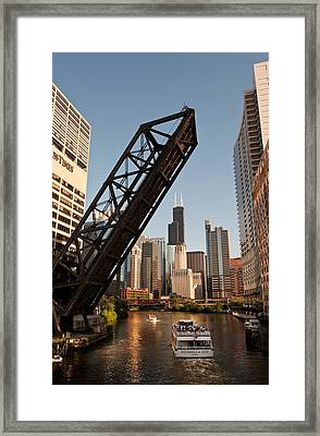 Chicago River Traffic Framed Print by Steve Gadomski