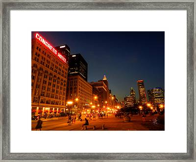 Chicago - S Michigan Ave 001 Framed Print by Lance Vaughn