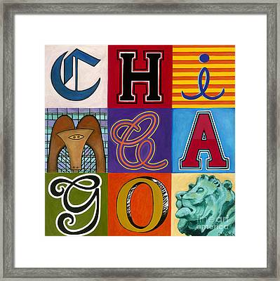 Chicago Sculptures Framed Print by Carla Bank