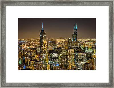 Chicago Skyline 2 Framed Print by Chris Martin