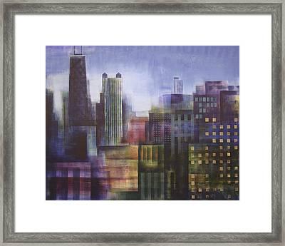 Chicago Skyline - In Neutral Tones Framed Print by Joseph Catanzaro