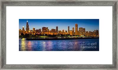 Chicago Skyline Framed Print by Inge Johnsson