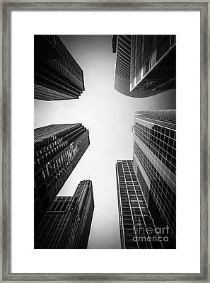 Chicago Skyscrapers In Black And White Framed Print by Paul Velgos