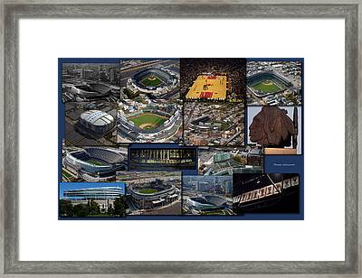 Chicago Sports Collage Framed Print by Thomas Woolworth