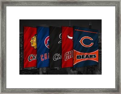 Chicago Sports Teams Framed Print by Joe Hamilton