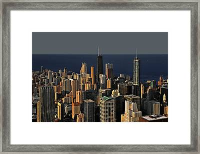 Chicago - That Famous Skyline Framed Print by Christine Till
