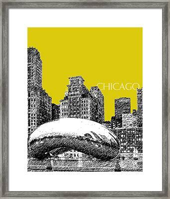 Chicago The Bean - Mustard Framed Print by DB Artist