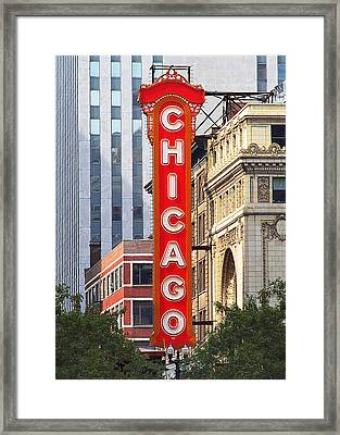 Chicago Theatre - A Classic Chicago Landmark Framed Print by Christine Till