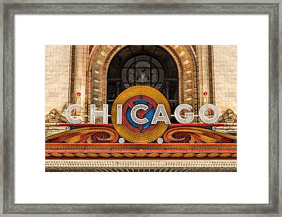 Chicago Theatre Marquee Sign Framed Print by Christopher Arndt