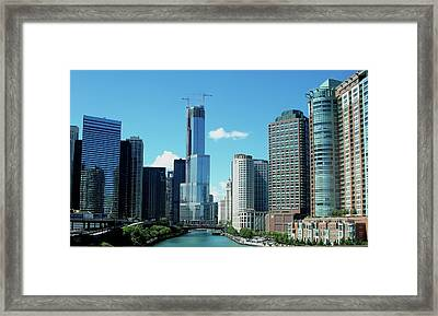 Chicago Trump Tower Under Construction Framed Print by Thomas Woolworth