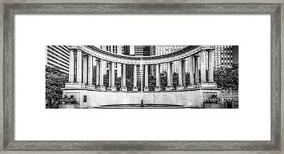Chicago Wrigley Square Millennium Monument Panorama Photo Framed Print by Paul Velgos
