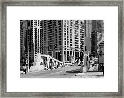 Chicago's Bascule Bridge 1986 Framed Print by Mountain Dreams