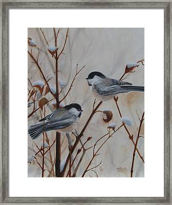 Chickadees Framed Print by Tammy  Taylor