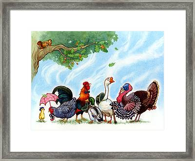 Chicken Licken Framed Print by Isabella Kung