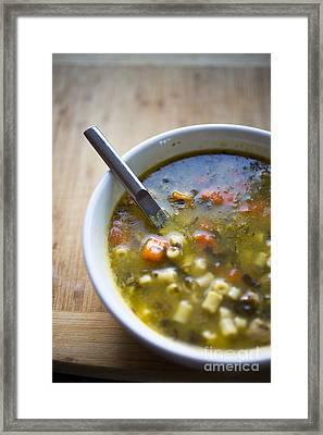 Chicken Noodle Soup Framed Print by Edward Fielding