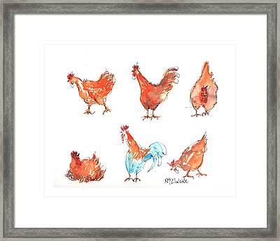 Chicken Pen Framed Print by Kathleen McElwaine