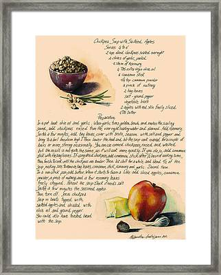 Chickpeas Soup With Apples Framed Print by Alessandra Andrisani