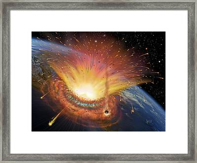 Chicxulub Impact Event Framed Print by David A. Hardy