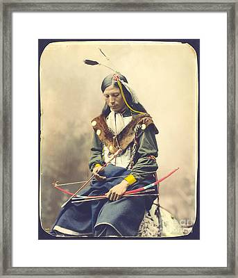 Chief Bone Necklace - Sinte Framed Print by Pg Reproductions