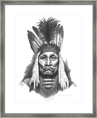 Chief Curly Bear Framed Print by Lee Updike