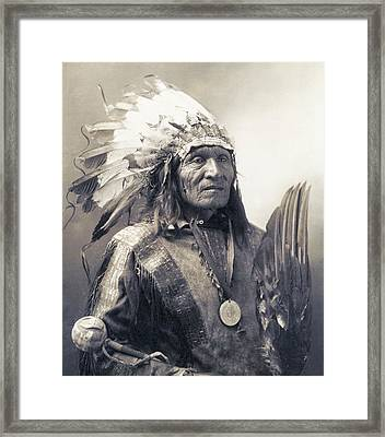 Chief He Dog Of The Sioux Nation  C. 1900 Framed Print by Daniel Hagerman