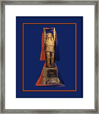 Chief Illiniwek University Of Illinois 05 Framed Print by Thomas Woolworth