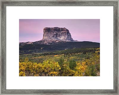 Chief Mountain Sunrise Framed Print by Mark Kiver